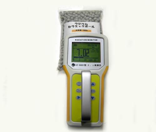 食品用ガイガーカウンターで放射線量率を計測