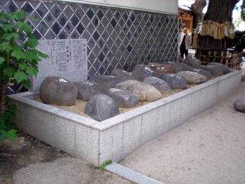 櫛田神社の力石(福岡県 福岡市)