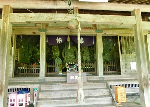 瑞厳寺磨崖石仏 全景