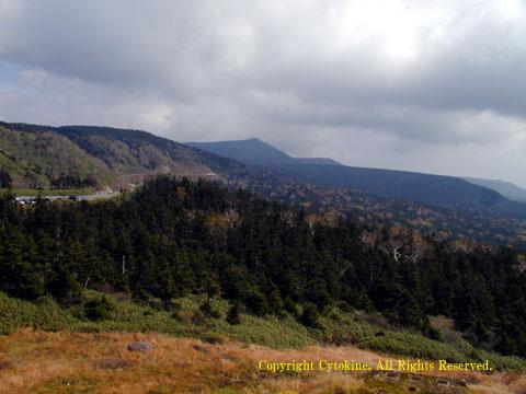 玉川温泉を抜けて八幡平の頂上から撮影した写真