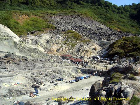 玉川温泉 岩盤浴風景