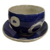 陶碗皿 染付丸紋 [美濃焼]