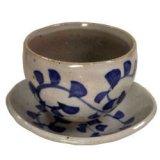 陶碗皿 染付唐草 [美濃焼]