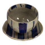 陶碗皿 染付十草 [美濃焼]