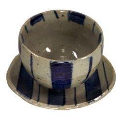 画像1: 陶碗皿 染付十草 [美濃焼]