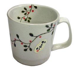 画像1: マグカップ 花つなぎ 軽量マグ(赤)[波佐見焼]
