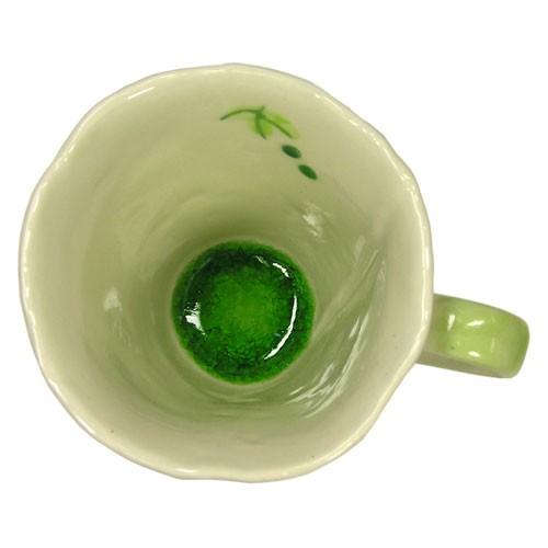マグカップ 山ぶどう(緑) 内側