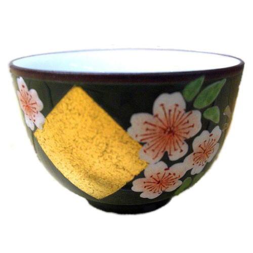 汲出碗 金箔桜 おもて
