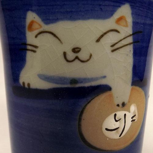 タマ プチカップ(青) 猫柄