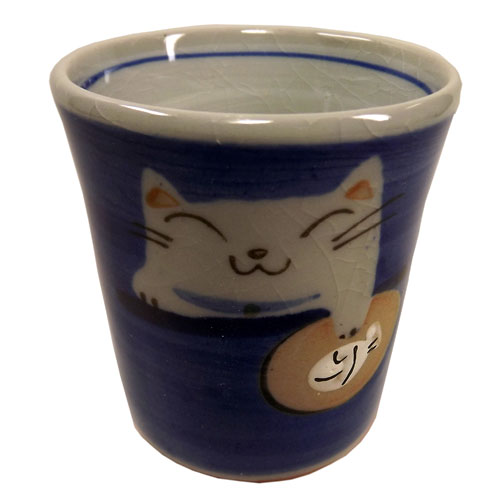 猫タマ プチカップ(青) 正面
