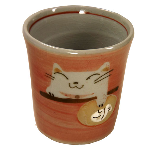 猫タマ プチカップ(紅) 正面