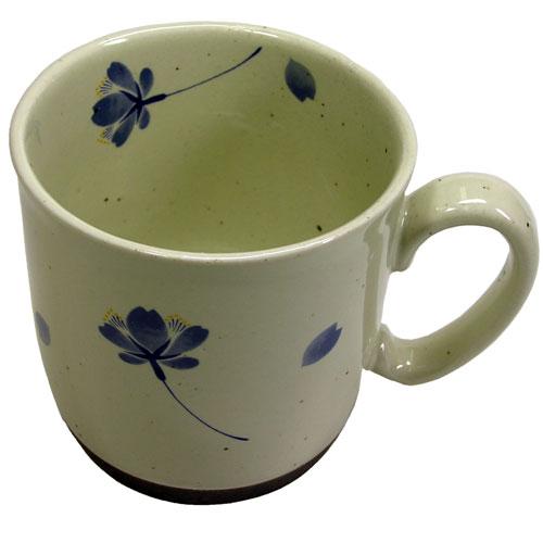 桜の舞 マグカップ(青) 有田焼