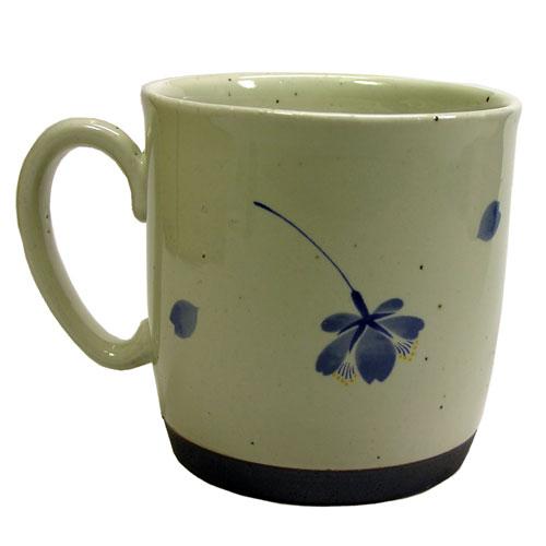 桜の舞 マグカップ(青) 有田焼 裏面