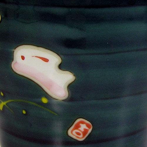 兎斗屋 マグカップ(青) 波佐見焼 正面 柄