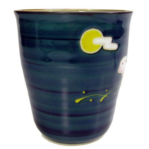 兎斗屋 マグカップ(青) 波佐見焼 取っ手の反対側
