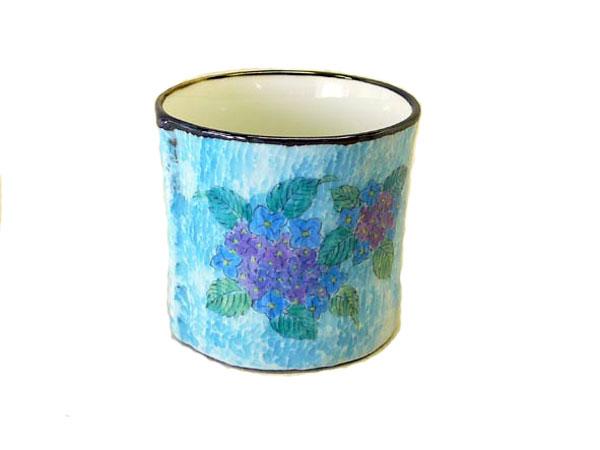 フランス印象派のイメージのあじさいカップ5個セット 有田焼
