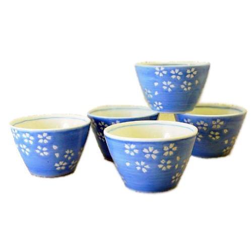 湯呑 桜 カップ5個セット 波佐見焼