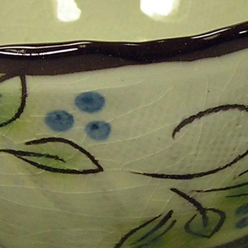 白刷毛木の実 コーヒー碗皿(青) 柄