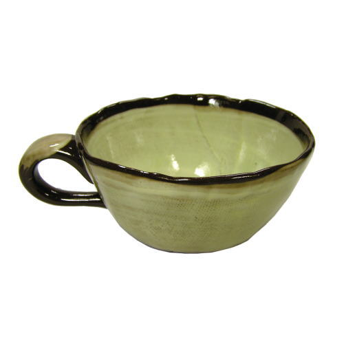 白刷毛 木の実 コーヒー碗皿(紅) 裏面