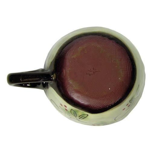 白刷毛木の実 コーヒー碗皿(紅) カップ底面