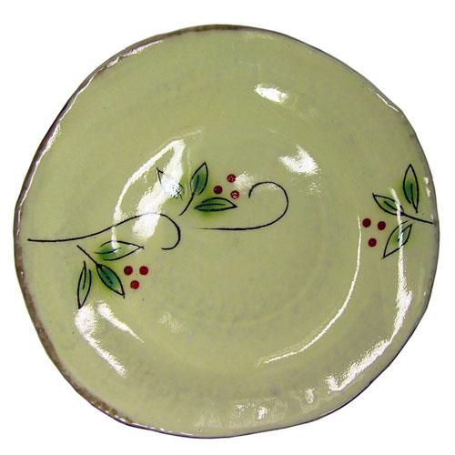 白刷毛木の実 コーヒー碗皿(紅) 皿 正面