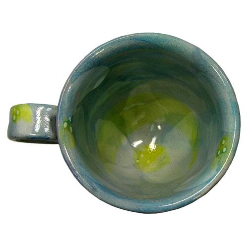 彩花 マグカップ(青) 美濃焼 内部