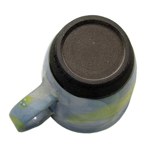 彩花 マグカップ(青) 美濃焼 底側