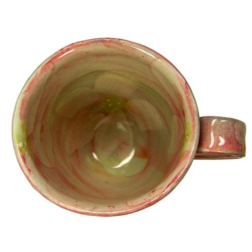 彩花 マグカップ(紅) 美濃焼 内側