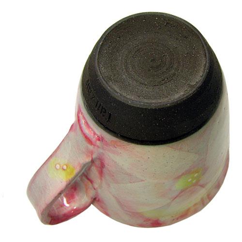 彩花 マグカップ(紅) 美濃焼 底