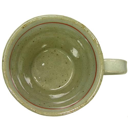 手造りマグカップ 赤絵唐草 内部
