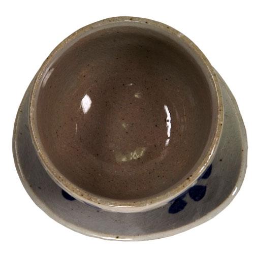 染付唐草 陶碗皿 底面