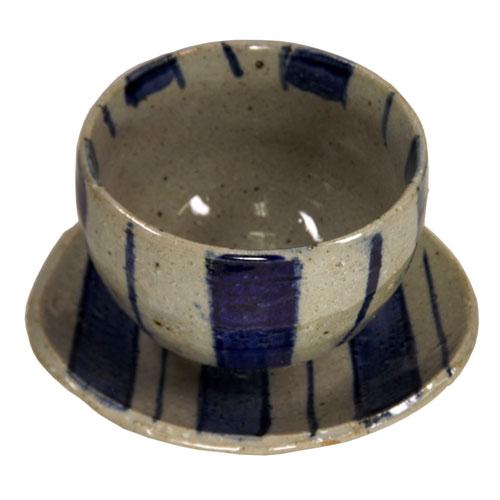 染付十草 陶碗皿 正面