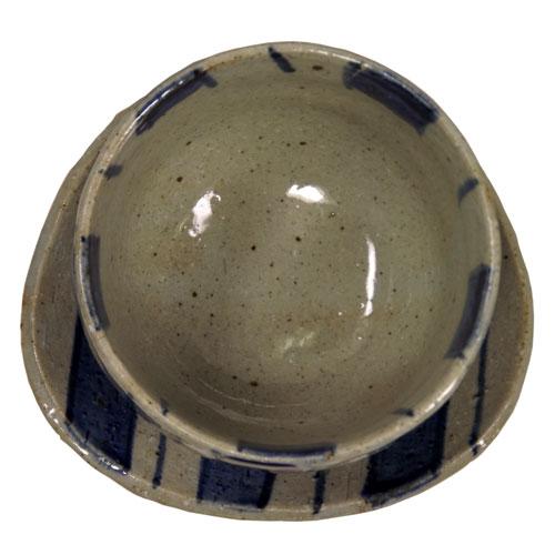 染付十草 陶碗皿 底面