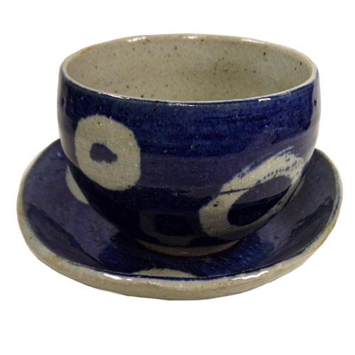 染付丸紋 陶碗皿 正面