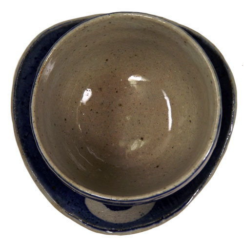 染付丸紋 陶碗皿 底面