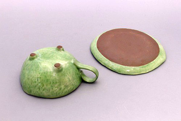 カップ&ソーサー コーヒー碗皿 花花兎(緑) 裏面