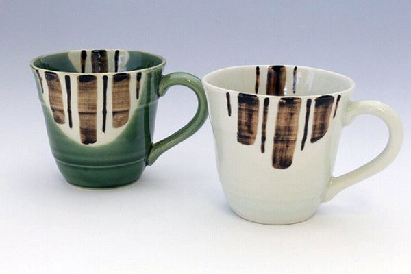 ペアマグカップ 瀬戸五釉 (2色2個セット) 正面