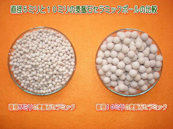 直径5ミリ球と直径10ミリ球の比較、ご使用用途により選択してください。