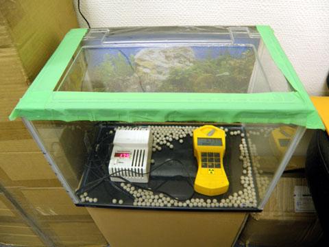 ラジウムセラミックボールRE45のラドン濃度測定値175Bq。