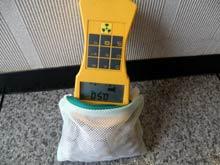 買った温浴器の放射線線量率を測る