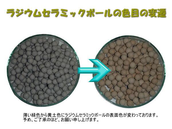 ラジウムセラミックボールの色目の変遷