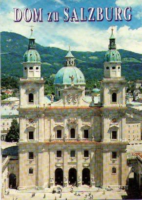 ザルツブルグ大聖堂の献金カード 国母じゃないけど チェいらねえ。