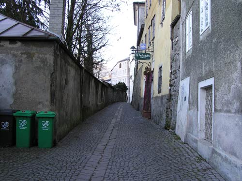 ホーヘン ザルツブルグ城 直下の路地