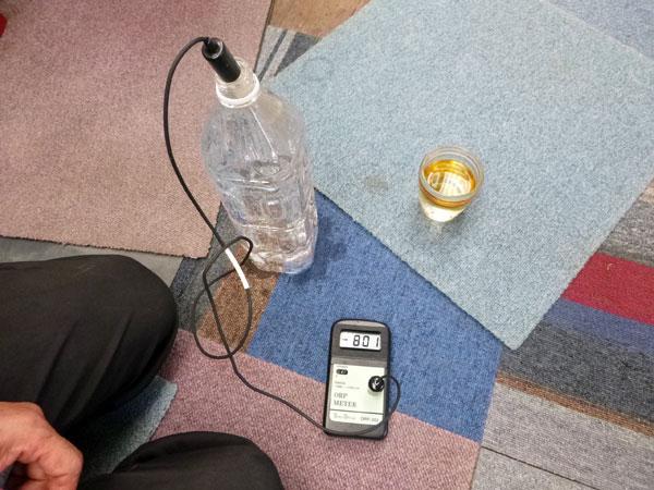温泉水素水の水素添加時は-800mVを示す