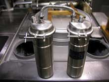 完成した自作 浄水器の全体像写真