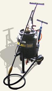 噴霧器 アスファルト乳剤スプレイヤー NSP-101(全自動噴霧機/蓄圧式/容量23リットル)