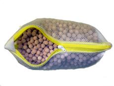 麦飯石セラミックボールをネット袋に入れたサンプル写真