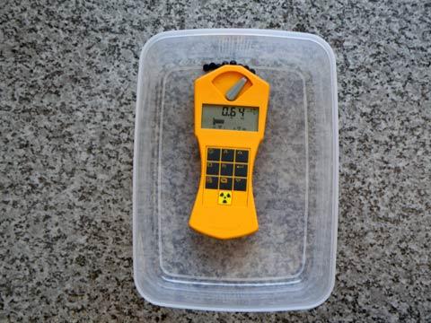 ラジウムセラミックチップRa+E 放射線線量 第1回目の計測