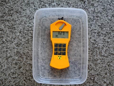 ラジウムセラミックチップRa+B5 放射線線量 第2回目の計測